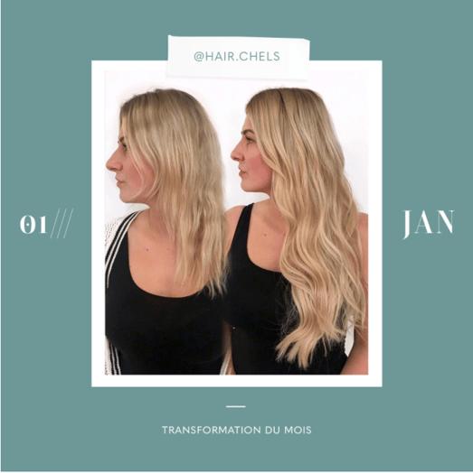 transformation des extensions de cheveux du mois: janvier