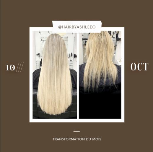 transformation des extensions de cheveux du mois: octobre