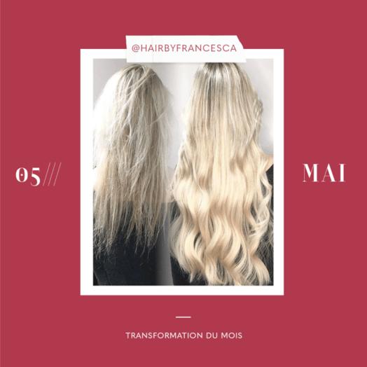 transformation des extensions de cheveux du mois: mai