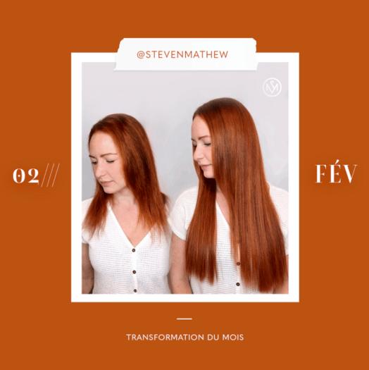 transformation des extensions de cheveux du mois: février