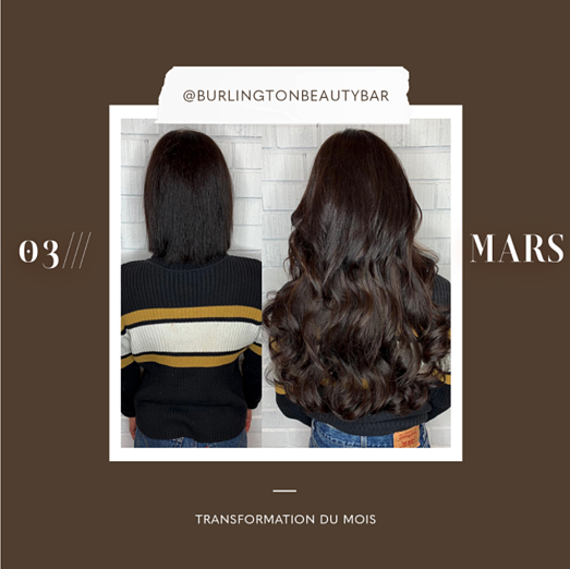 transformation des extensions de cheveux du mois: mars