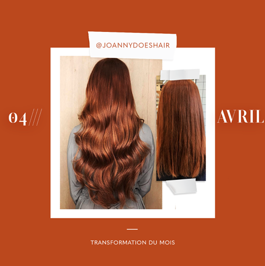 transformation des extensions de cheveux du mois: avril