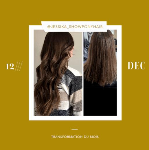 transformation des extensions de cheveux du mois: décembre