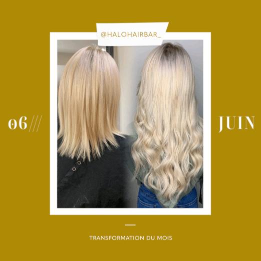transformation des extensions de cheveux du mois: juin