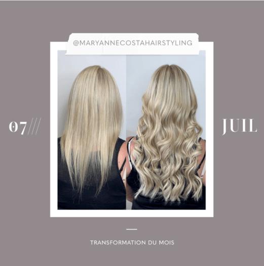 transformation des extensions de cheveux du mois: jullet