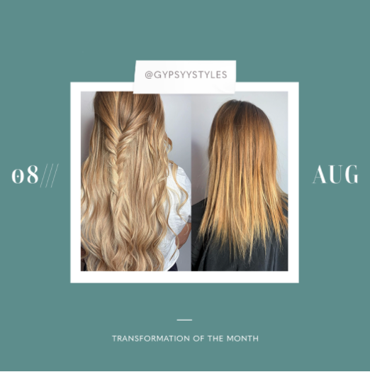 hair extensions transformation of the month: august
