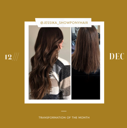 hair extensions transformation of the month: december