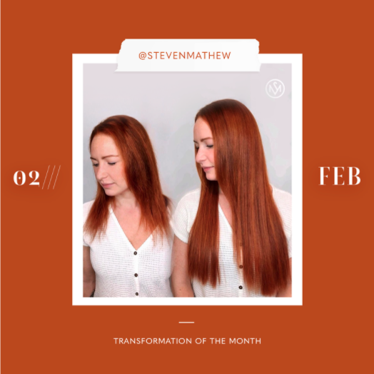 hair extensions transformation of the month: february