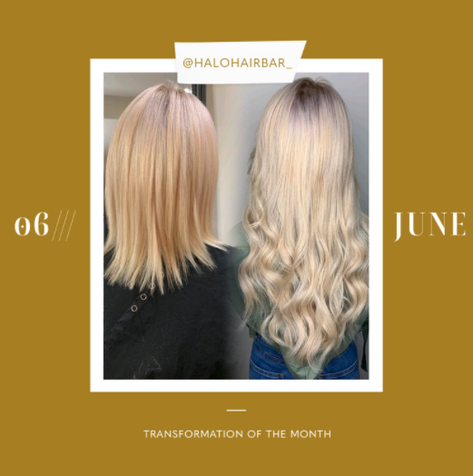 hair extensions transformation of the month: june
