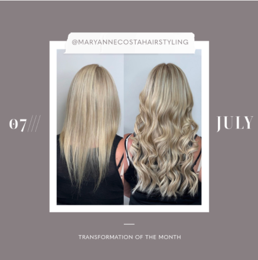 hair extensions transformation of the month: july