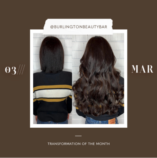 hair extensions transformation of the month: march