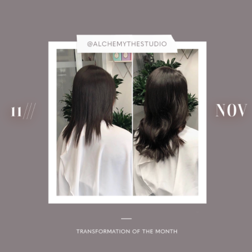 hair extensions transformation of the month: november