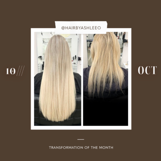 hair extensions transformation of the month: october