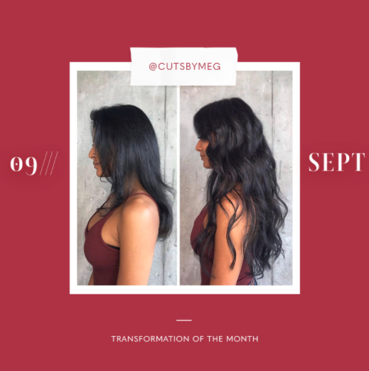 hair extensions transformation of the month: september