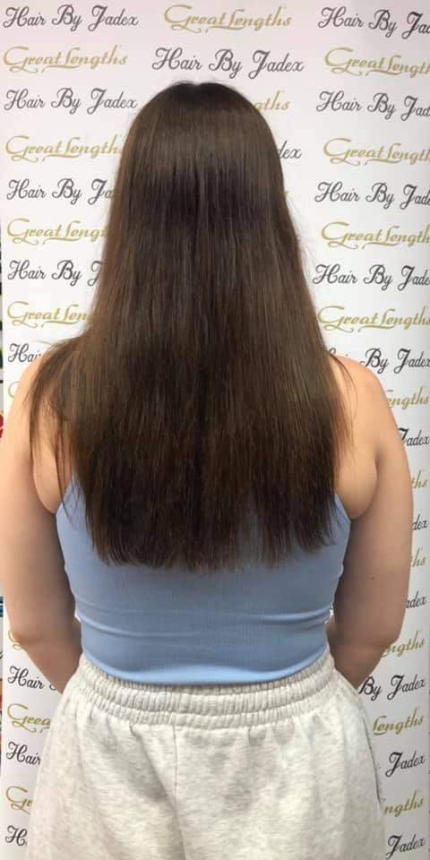 Jade Searcy at Hair By Jade (Before)