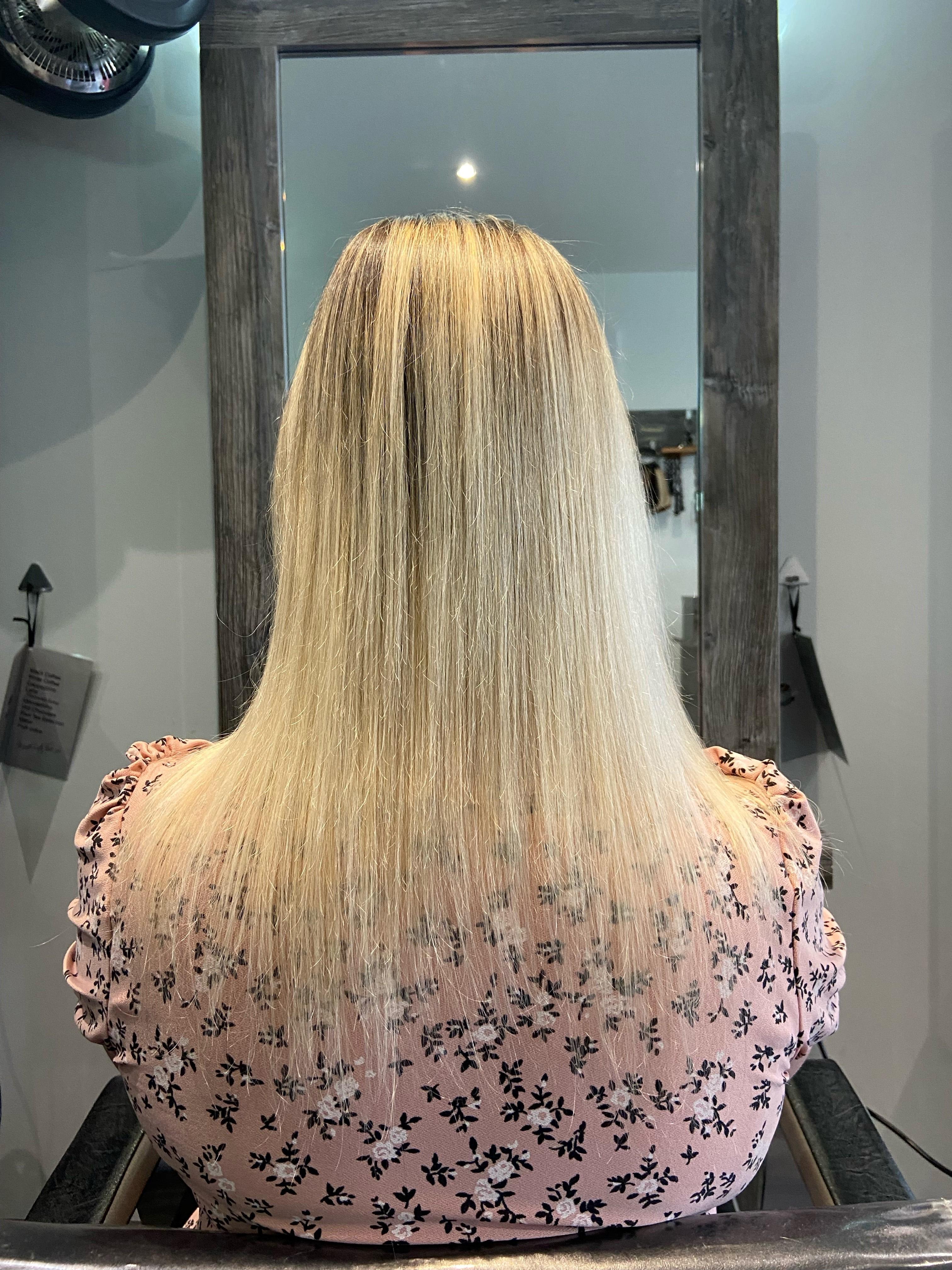 Mandy Delaney at Rosser Hairdressing (Before)