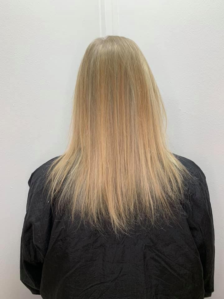 Melanie McDonald @ Melanie Richards Hair & Beauty (Before) - Best hair extension application