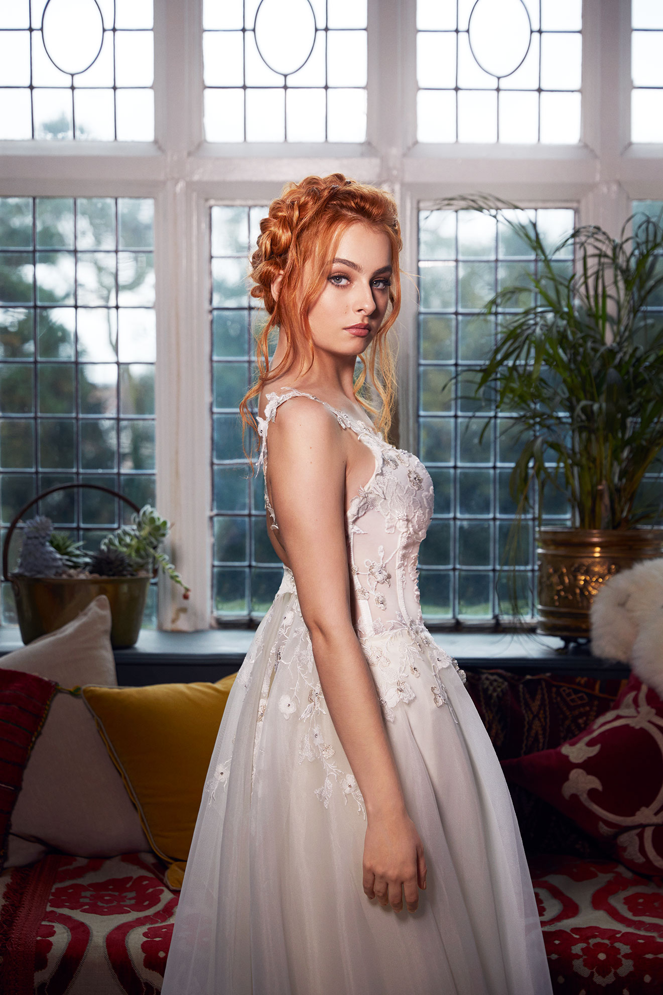 Bridal hair extension - light