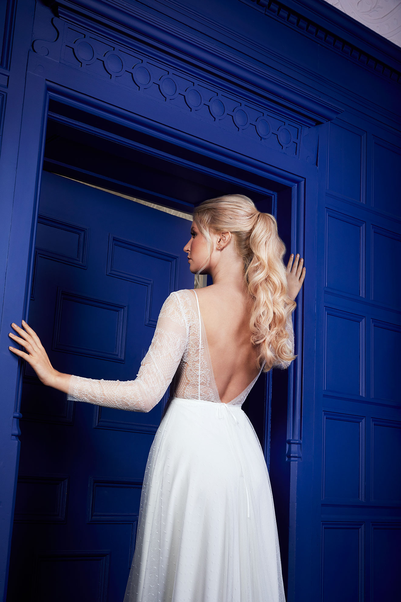 Bridal hair extension campaign - ponytail