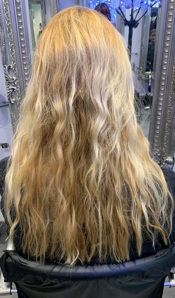 Rachel Friend @ Capelli 32 (Before 1) - Best hair extension application