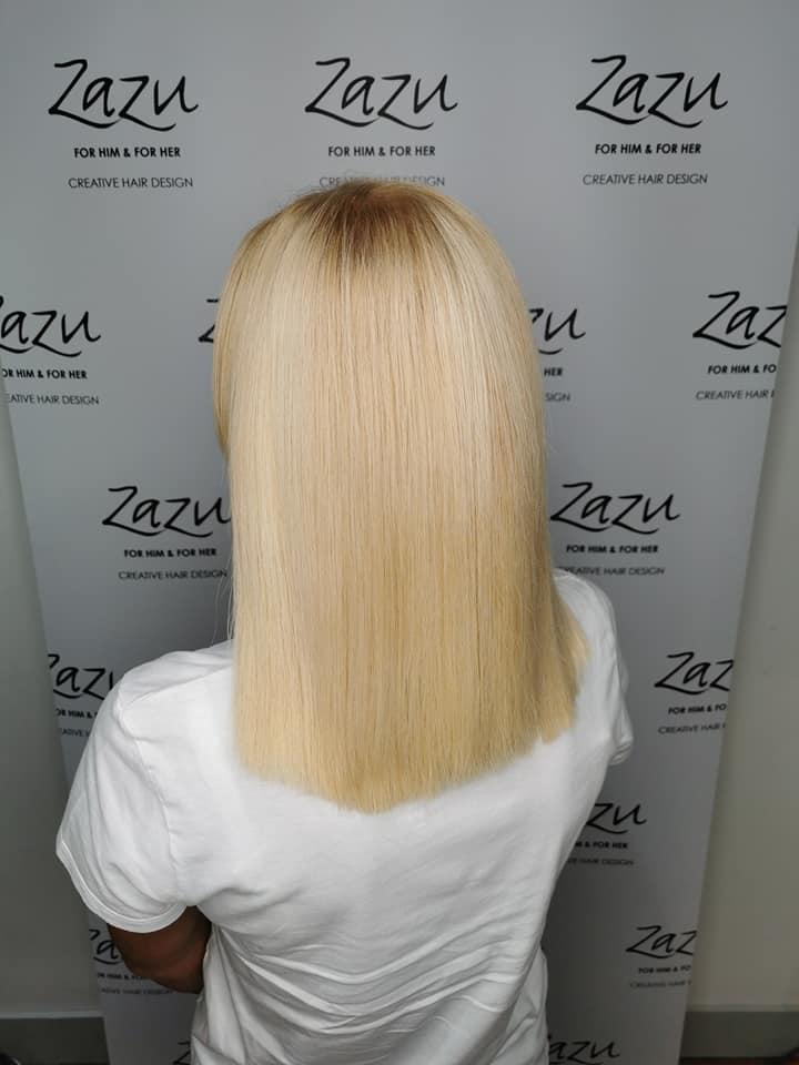 Robbie Wilson @ Zazu Creative Hair Design (After) - Best hair extension application