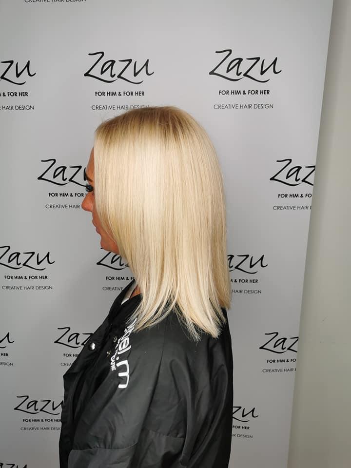 Robbie Wilson @ Zazu Creative Hair Design (before) - Best hair extension application